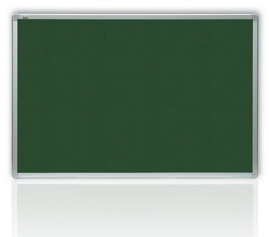 Filcová zelená tabule v hliníkovém rámu 180x120 cm