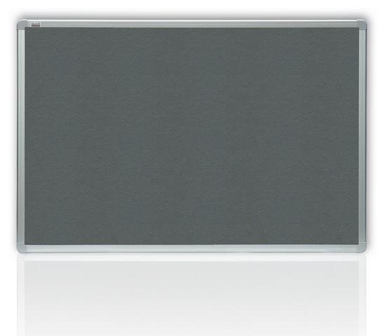 Filcová šedá tabule  45 x 60 cm, ALU rám