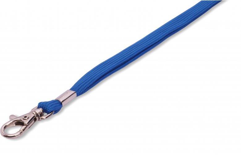 Šňůrka ROSE s karabinou - modrá - 100 ks