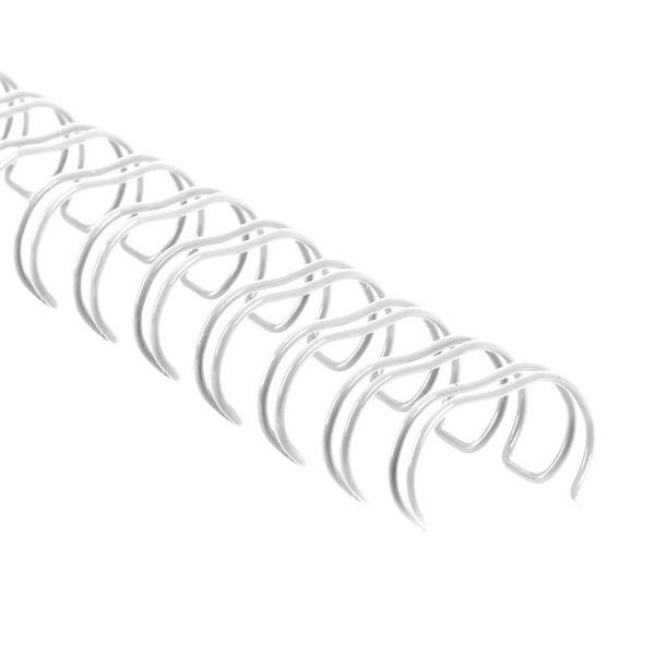 "Drátěné hřbety 3/8"" / 3:1 / 6 mm - bílé"