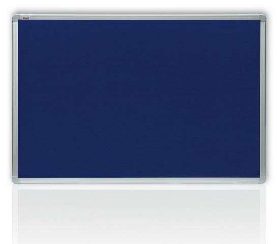 Filcová modrá tabule v hliníkovém rámu 150x120 cm