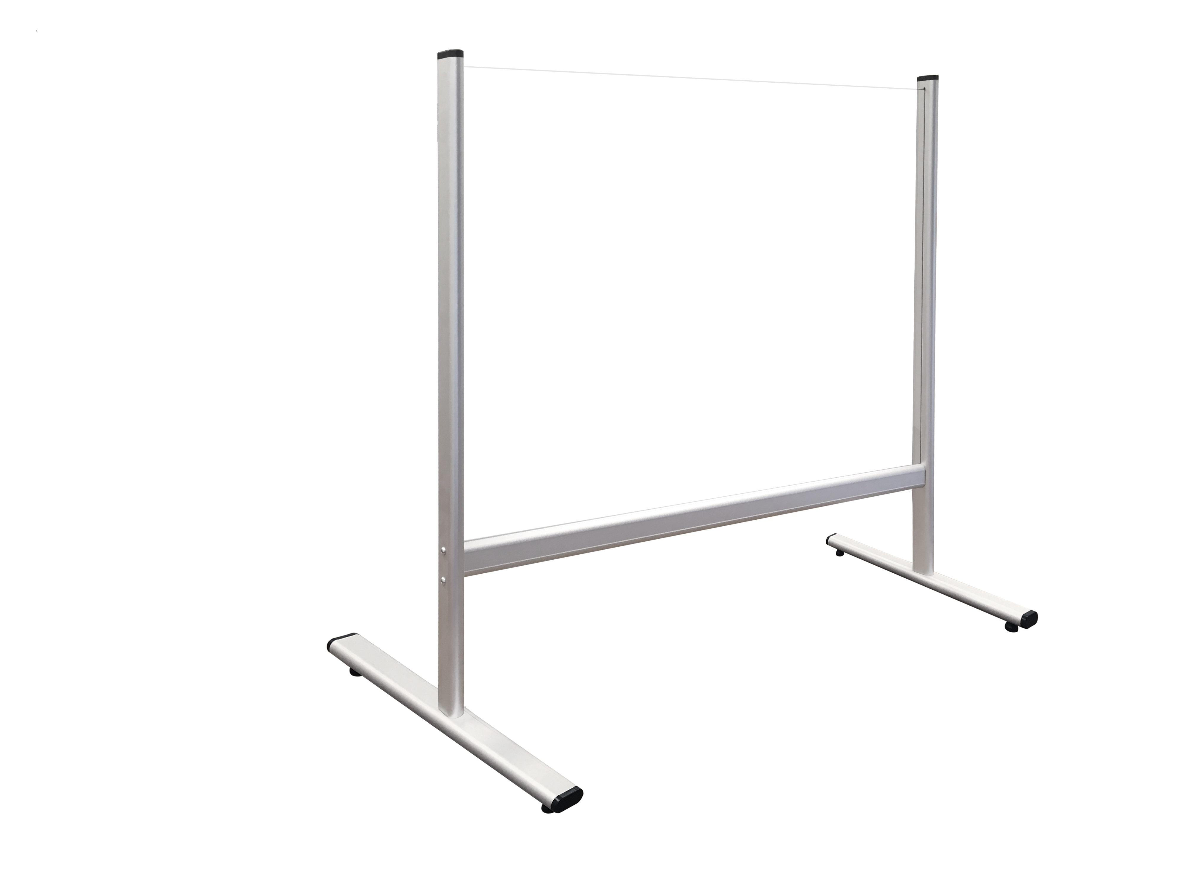 Bezpečnostní dělící plexi stěna na stůl 100 x 65 cm
