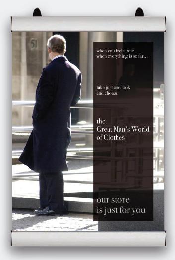 Plakátová lišta Poster Snap - 500 mm