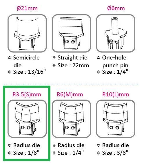Výsekový rádius pro KW triO 9521 3,5 mm
