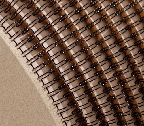 Drátěné hřbety na cívce 3:1 - 6,4mm - 93.000 závěsů - černé