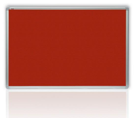 Filcová červená tabule v hliníkovém rámu 180x120 cm