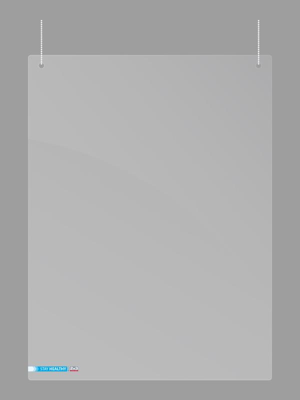 Závěsná ochranná plexi stěna 150 x 100 cm