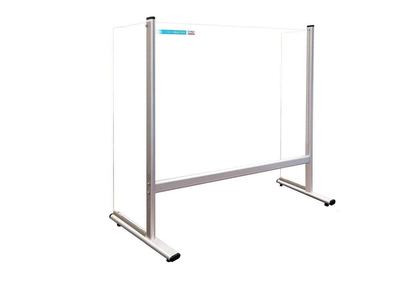 Bezpečnostní dělící plexi stěna s bočnicemi na stůl 65 x 60 cm