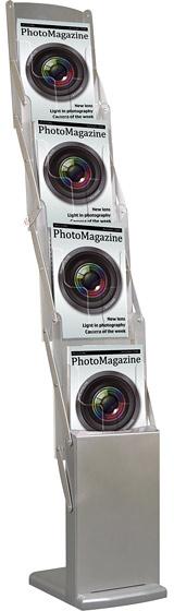 Mobilní stojan na brožury 4xA4