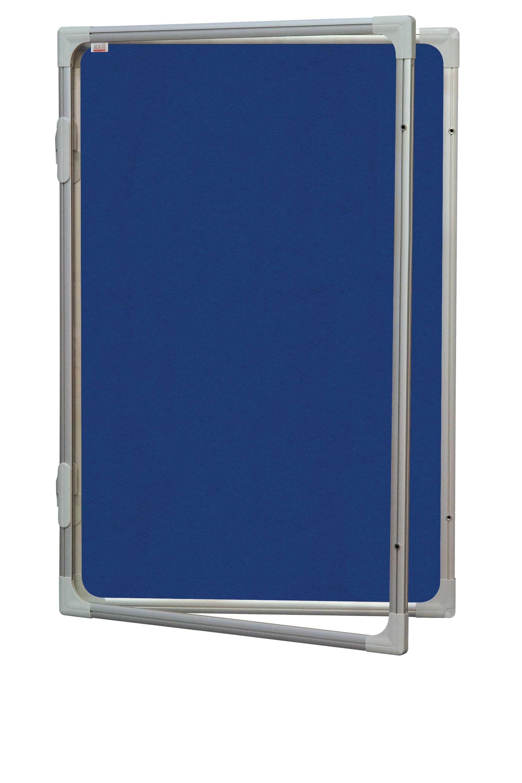 Vertikální vitrína 60 x 90 cm - výplň šedý filc