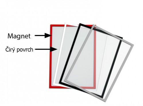Magnetická informační kapsa A4 - šedý rámeček